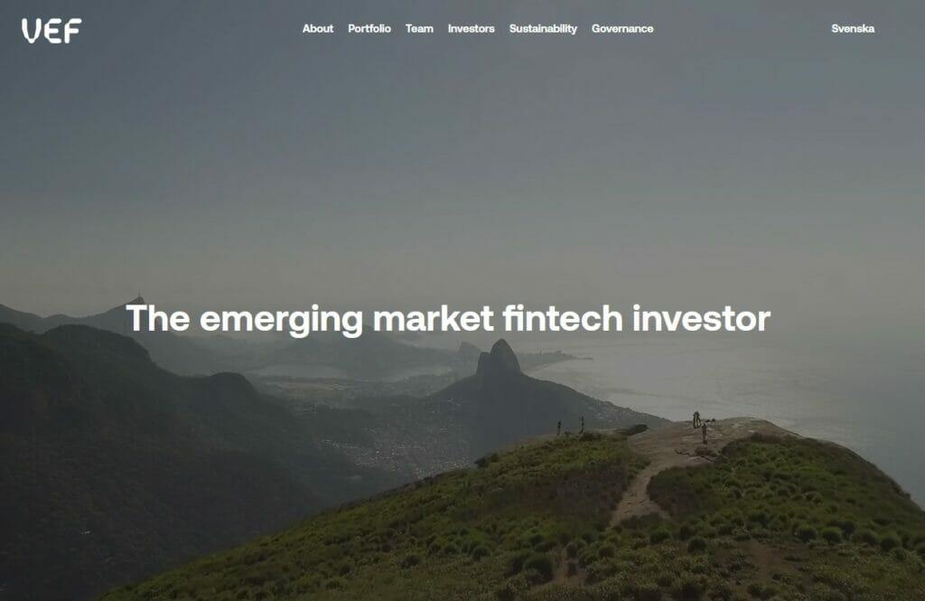 VEF's website - David Nangle